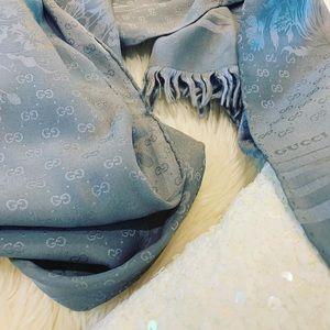 Gucci authentic vintage unique long silk scarf